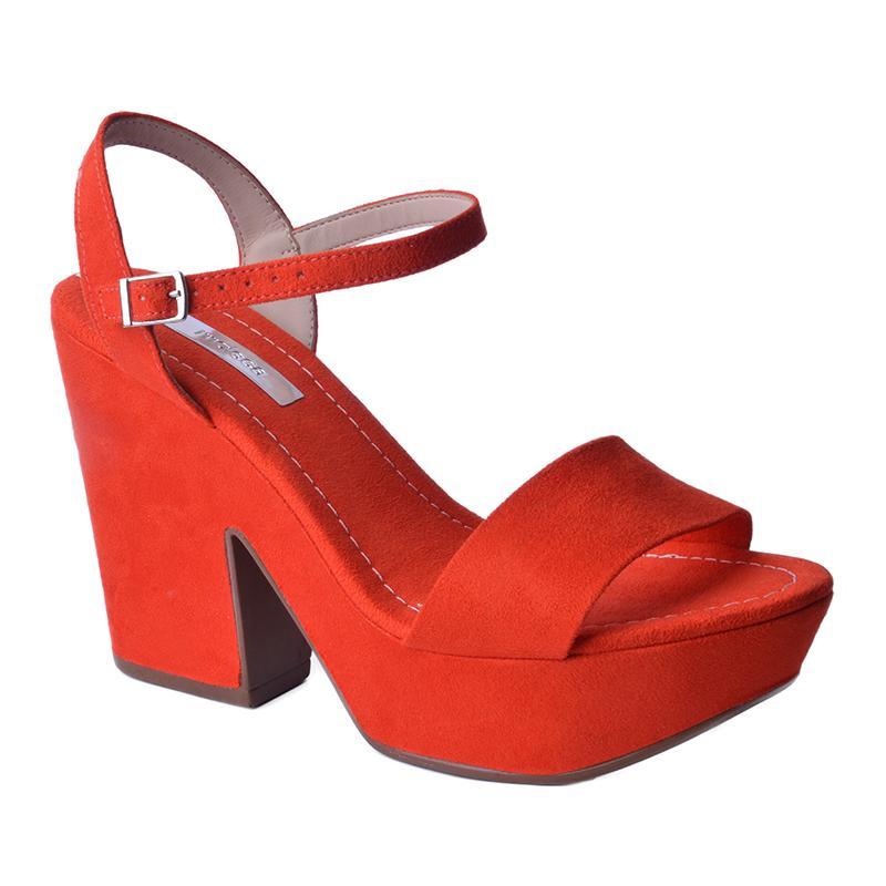 sandalia bloco moleca vermelha