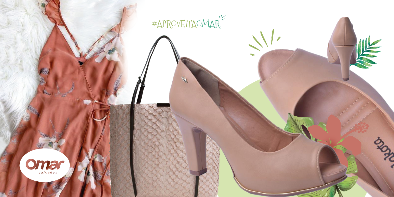 Sapato Peep Toe Dakota look